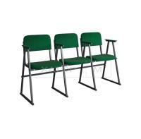 Кресла для актового зала Алиса с подлокотниками на лыжах