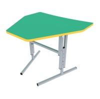 Стол (парта)  для детского сада, школьный Треугольник на лыже регулируемый по высоте одноместный
