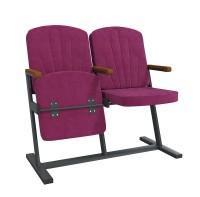 Кресла мягкие Классик F-Стойка для зон ожидания, концертных, актовых залов