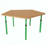 Детский стол пятигранный регулируемый по высоте 20×20 в 25×25