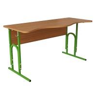 Стол (парта)  аудиторный для вузов П-образный регулируемый по высоте двухместный