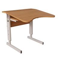 Стол (парта) школьный, ученический, Аудит с площадкой регулируемой по высоте одноместный
