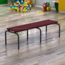 Скамья с мягким сиденьем для детского сада