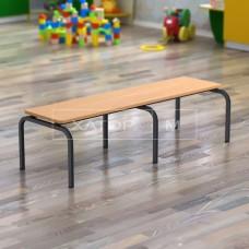 Скамья с сиденьем из ДСП для детского сада