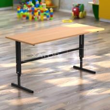 Стол детский регулируемый по высоте двухместный для детского сада