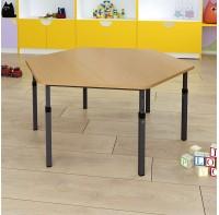 Стол  детский шестигранный регулируемый по высоте 20×20 в 25×25