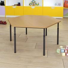Детский стол шестигранный регулируемый по высоте Ø22 в Ø27