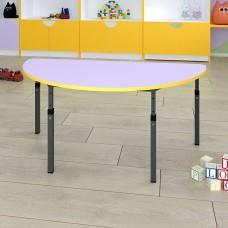 Детский стол полукруглый регулируемый по высоте 20×20 в 25×25