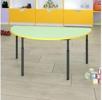 Детский стол полукруглый регулируемый по высоте Ø22 в Ø27