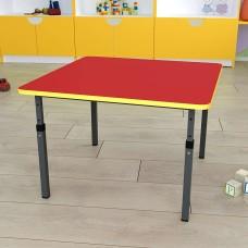 Детский стол квадратный регулируемый 20×20 в 25×25