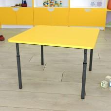 Детский стол квадратный регулируемый по высоте Ø22 в Ø27
