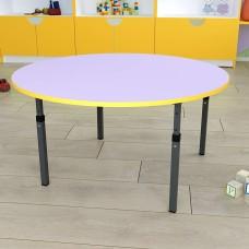 Детский стол круглый регулируемый по высоте 20×20 в 25×25