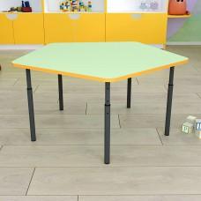 Детский стол пятигранный регулируемый по высоте Ø22 в Ø27