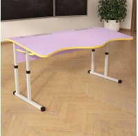Стол (парта)  Аудит школьный с площадкой регулируемый по высоте 20×20 в 25×25 двухместный