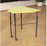 Стол (парта)  для школ и вузов треугольный регулируемый по высоте одноместный 20х20мм