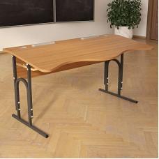 Стол (парта)  для школ, вузов аудиторный П-образный с площадкой регулируемой по высоте двухместный