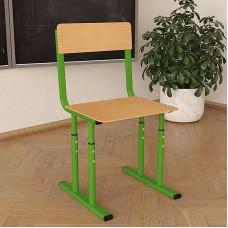 Школьный стул Кадет НУШ регулируемый по высоте Ø22 в Ø27 прямая фанера
