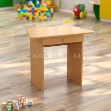 Стол ДСП Трапеция детский с ящиком одноместный