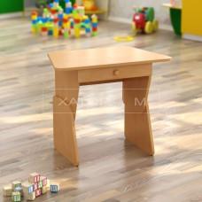Стол ДСП Трапеция детский с ящиком одноместный регулируемый