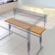 Сиденье двухместное для лавки (скамьи) ученической
