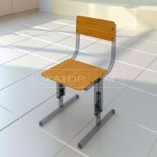 Сиденье со спинкой (комплектующие для ученической мебели) Прямая фанера Кадет-М