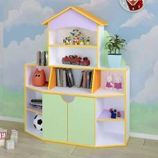 """Детская стенка для игрушек """"Книжный дом"""""""